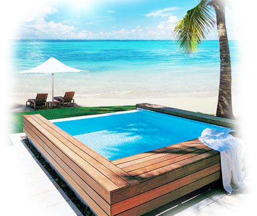 Plunge pool paradise beach