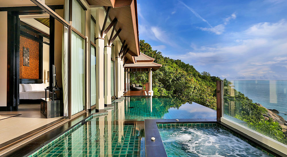 Luxury hotel with private pool villas banyan tree samui koh samui for Resorts in goa with private swimming pool