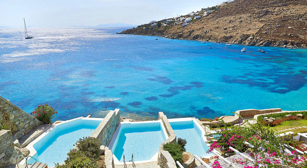 Hotel with private pool - Mykonos Blu, Grecotel Boutique Resort