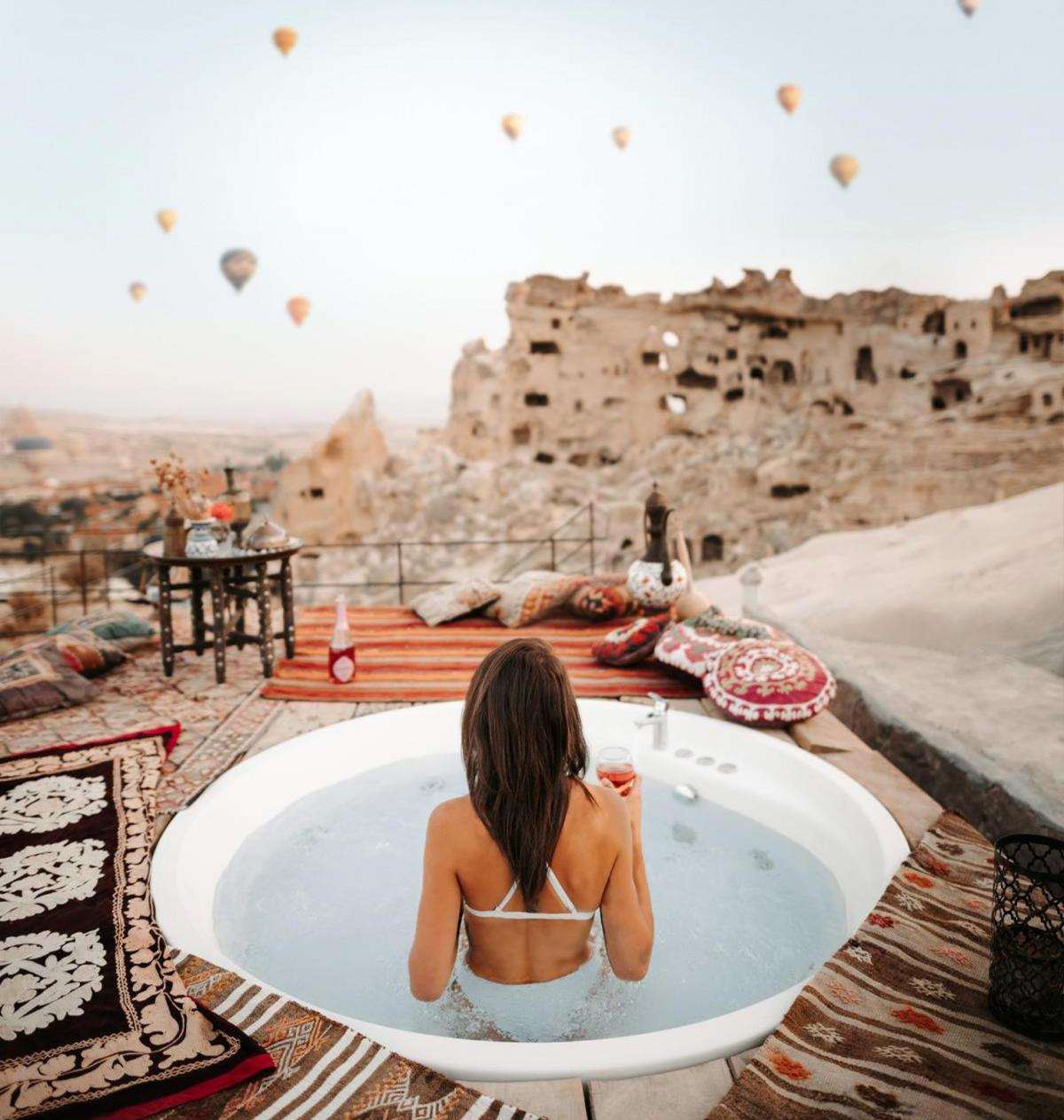 Hotel with private pool - Seki Cave Suites Çavuşin