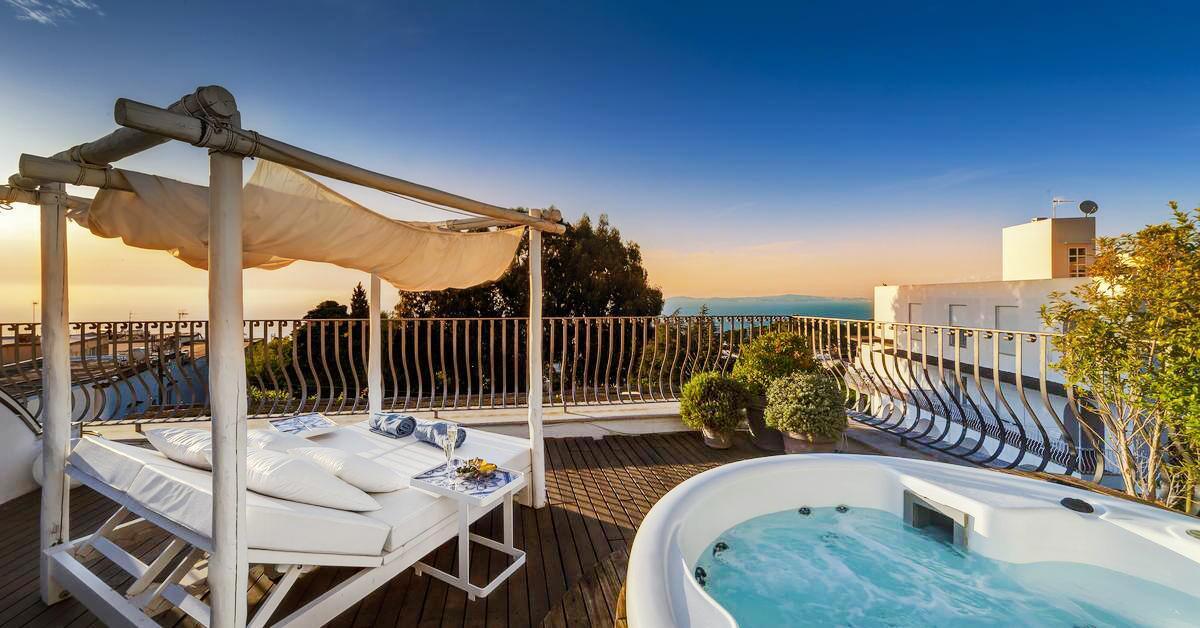 Hotel with private pool - Hotel Villa Blu Capri