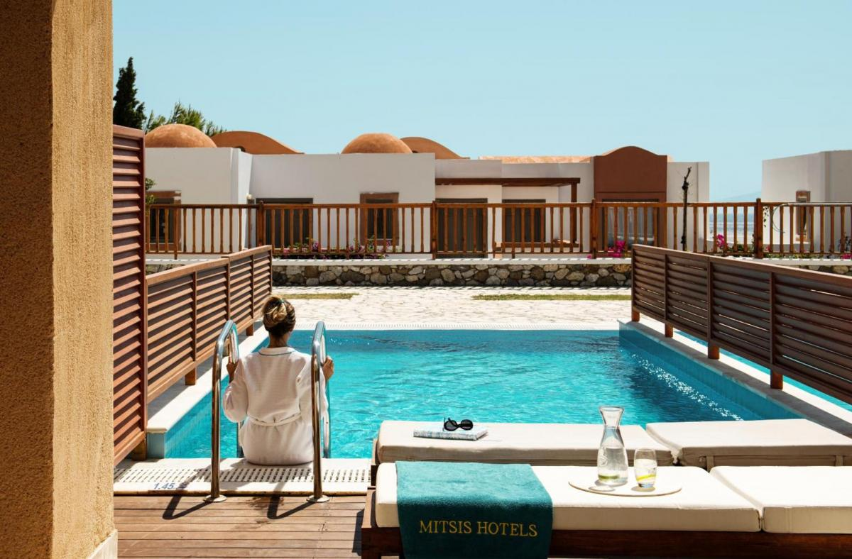 Hotel with private pool - Mitsis Blue Domes Resort & Spa