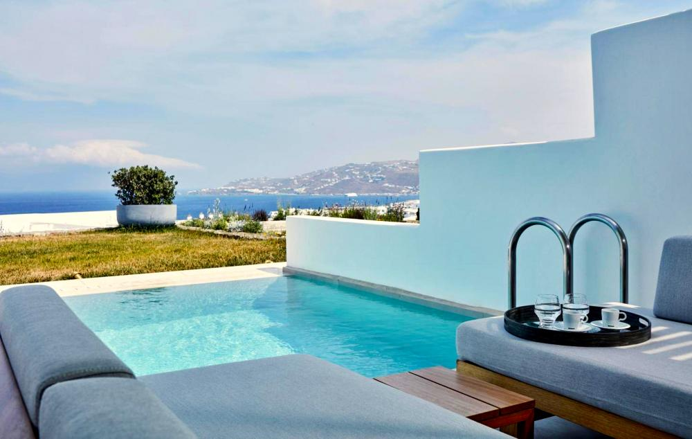 Hotel with private pool - Myconian Naia - Preferred Hotels & Resorts