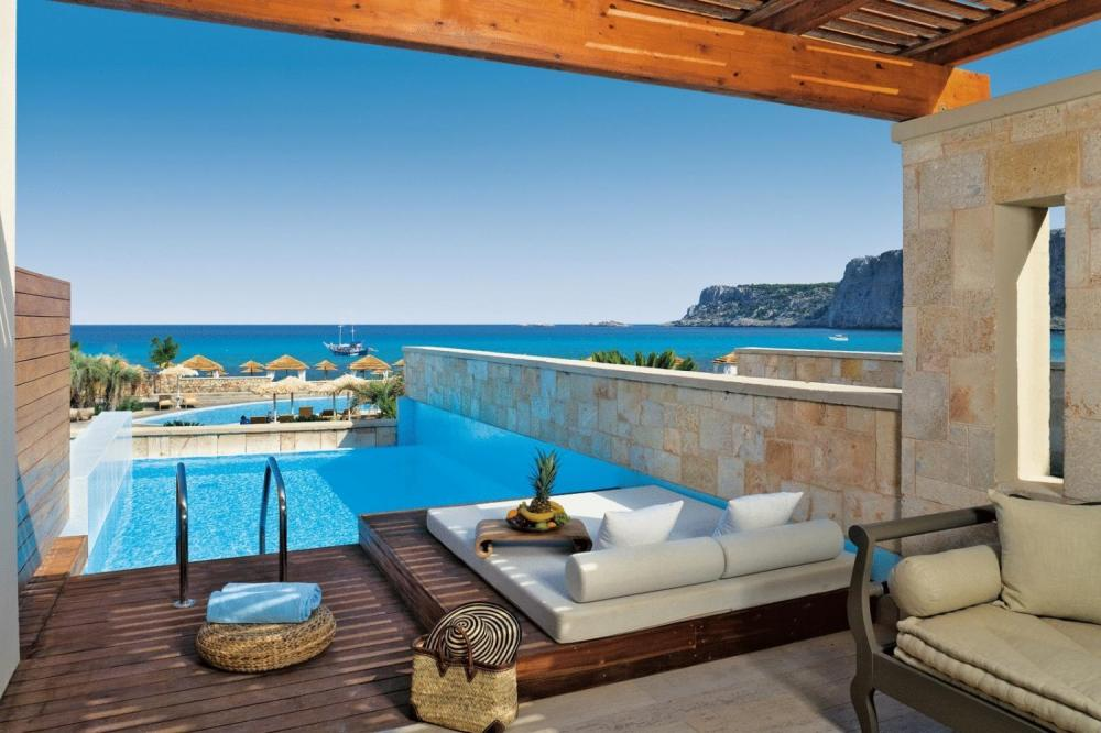 Hotel with private pool - Aquagrand Exclusive Deluxe Resort Lindos - Adults only