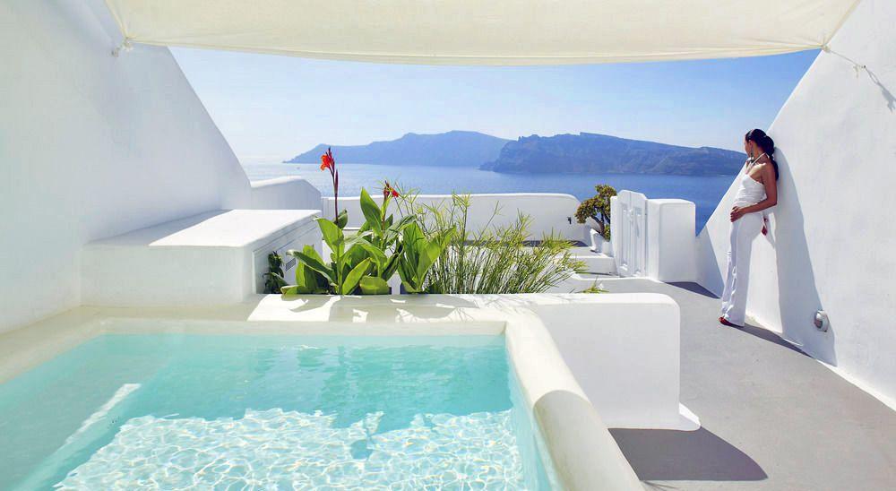 Hotel with private pool - Katikies Kirini Santorini - The Leading Hotels Of The World