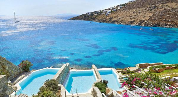 Hotel with private pool - Mykonos Blu, Grecotel Exclusive Resort