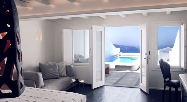 Hotel with private pool - Cavo Tagoo Santorini