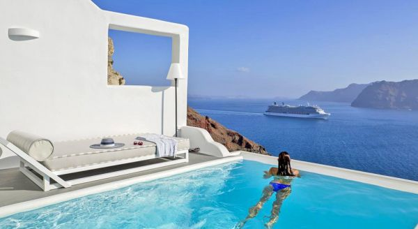 Greece Luxury Hotel With Private Pool Greece Hotel And Flight